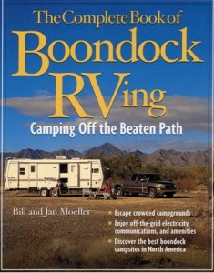 'Boondock RVing' camping 'off the grid'