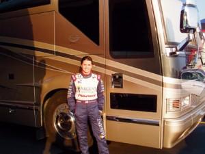 Indy 500 driver Danica Patrick kicks back in her Marathon Coach
