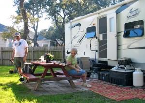 Good neighbors RVers Myron and Alberta Scott travel each winter from Kansas to Gulf Coast