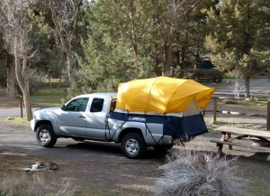 Car, truck, van wrap-around camping tents