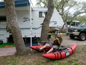 RVer Jimmy Smith's essay on fishing an outgoing tide in his pontoon boat