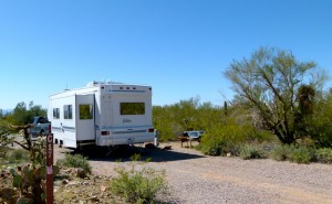 Gilbert Ray Campground, outstanding county RV destination west of Tucson, great views
