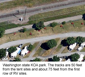 Free RV Travel newsletter chuck full of tidbits, including hint to check out RV park on Google Earth
