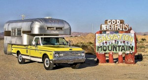 Check out this classic '68 Silver Streak truck camper