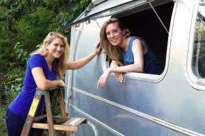 'Silver Sistas' restoring vintage Airstream