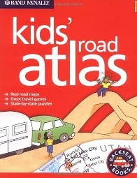 Summer reads for young RVers, # 3 -- 'Kids' Road Atlas' by Rand McNally