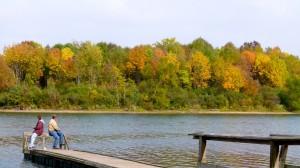 Family RV camping at Indiana's Summit Lake park