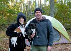 Avid tent campers Stewart and Kate Gardner of northern Virginia may have an RV in their future