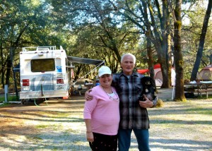 RVers Debbie & Dale Younger are camp hosts at Antlers Campground in Shasta/Trinity forests
