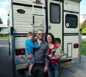 Young family new owners of our S&S camper