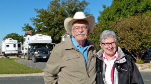 Liz and Jack Pearce welcome strangers at Escapee's Lone Star Corral RV Park near Hondo, Texas