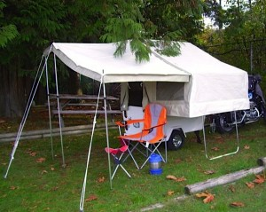 RVing and Motorcycling, part 3: 'Set up tent trailer in only a few minutes'