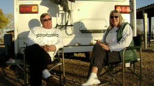 Retired RVers from Oregon trade in truck camper for small travel trailer