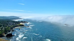 Lunch with an expansive view of the Oregon Coast ... Otter Crest State Scenic Viewpoint