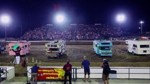 Time for the crazy 'Motorhome Madness Demolition Derby' in Orange County