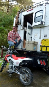 Fascinating millennials RV camping, cycling Pacific Coast Highway