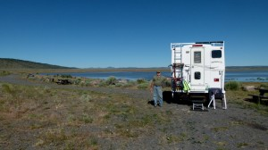 Quick overnight stop at BLM Chickamominy Reservoir and Campground west of Burns, Oregon