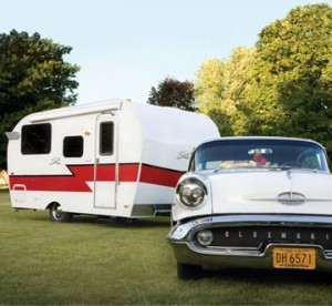 Check out this retro lightweight travel trailer