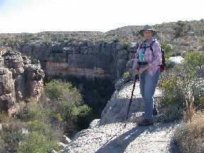 Author Jaimie Hall Bruzenak's favorite RV holiday memory -- hiking Big Bend trails