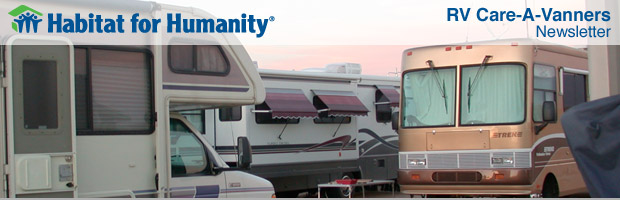 Habitat's RV Care-A-Vanners looking for construction safety trainers