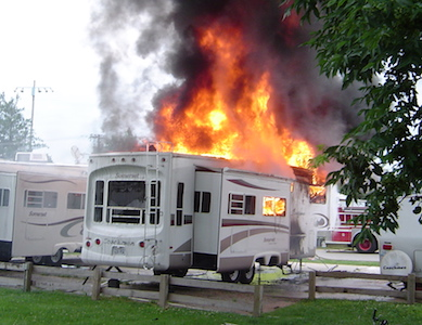 Your RV can burn to ground in just 6 minutes – learn safety tips