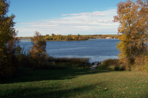 RVing North Dakota, camping at Lake Metigoshe State Park near Canadian border