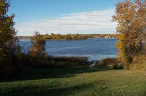 RVing North Dakota, camping at Lake Metigoshe State Park near Canadian border