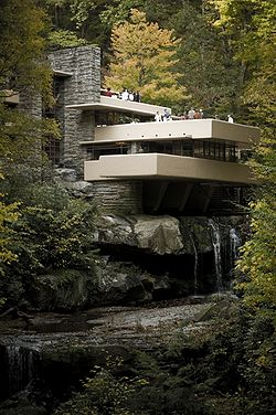 'Fallingwater' on a damp autumn day