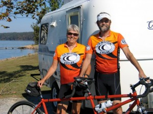 Jane and Kevin Justis--pedal, roll all winter