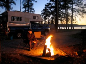 Last campfire at Lake Seminole