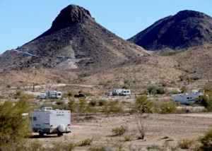 'Quartzsite winding down'