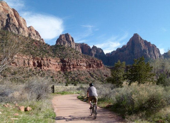 Bicycling Pa'rus Trail in Zion National Park