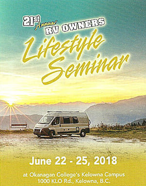 21th RV Owners Lifestyle Seminar in Kelowna, BC