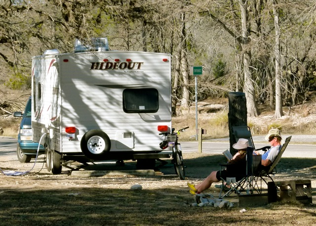 Canadian RV snowbirds relax into the warmth of south Texas sunshine