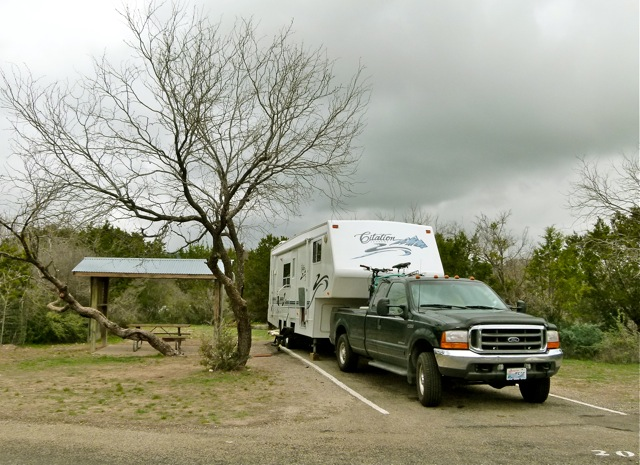 After South Llano River State Park – high winds gusting 40+ mph in west Texas
