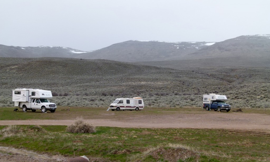 Boondocking near the Alvord Hot Springs