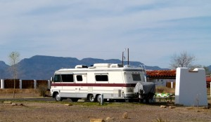 Washington State women RVed Southwest, searching for antiques in vintage motor home