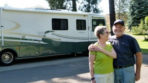 Longtime RV friends Jim and Diana Garot stop by
