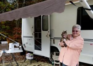 Retired nurse Linda Taub takes to the road