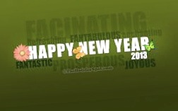 Happy New Year – may 2013 be full of RVing adventures