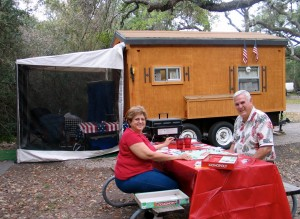 RVers spend holidays at Goose Island State Park in Rockport, Texas
