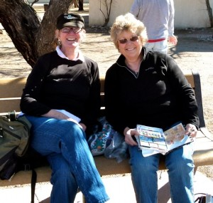 RV paths of Whidbey Island painter & Spokane writer cross at small Arizona mission