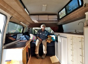 Woman RVer Kate Bright converts cargo van into her own custom traveling rig
