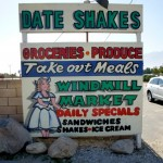 Perfect RV Short Stop: Cold (homemade) date shake on warm day on edge of Mojave Desert