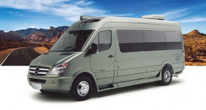 Roadtrek's RS E-Trek green travel van, but at a price