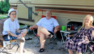 Three generations of Southern Women RVers 'workamp' in Florida State Parks