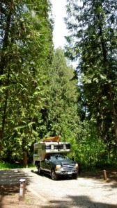 Corps of Engineers Riley Creek Campground on banks of Lake Pend Oreille in north Idaho