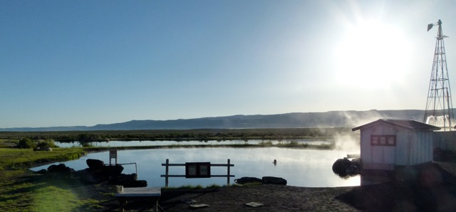 Good soak, overnight: Crystal Crane Hot Springs near Burns, Oregon