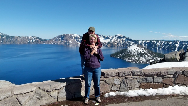 Some snow still at Crater Lake National Park – Mazama Campground opened early