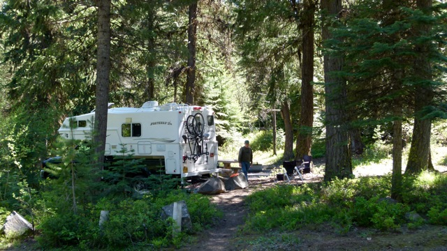 Forest Service campground at Dixie Summit, great boondocking (if you don't mind a few flying critters)